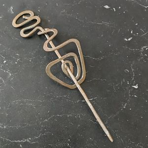 Handcrafted Decorative Metal Hair Pin
